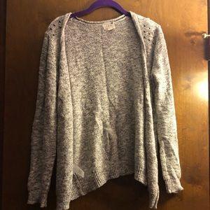 Studded Gray Knit Cardigan